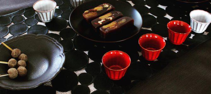 6月和菓子レッスン「ドライフルーツのラム羊羹」「丹波黒豆すはま」@表参道ワノコトのお知らせ(2018/6/30)